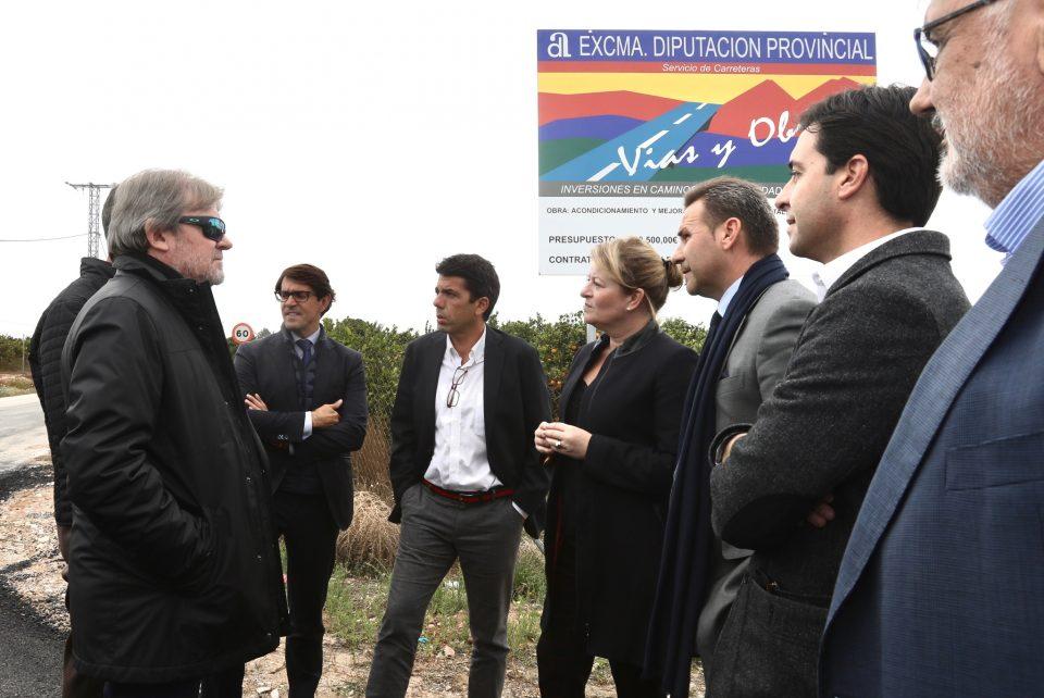 El Presidente de la Diputación de Alicante inaugura las obras del camino del Espartal 6