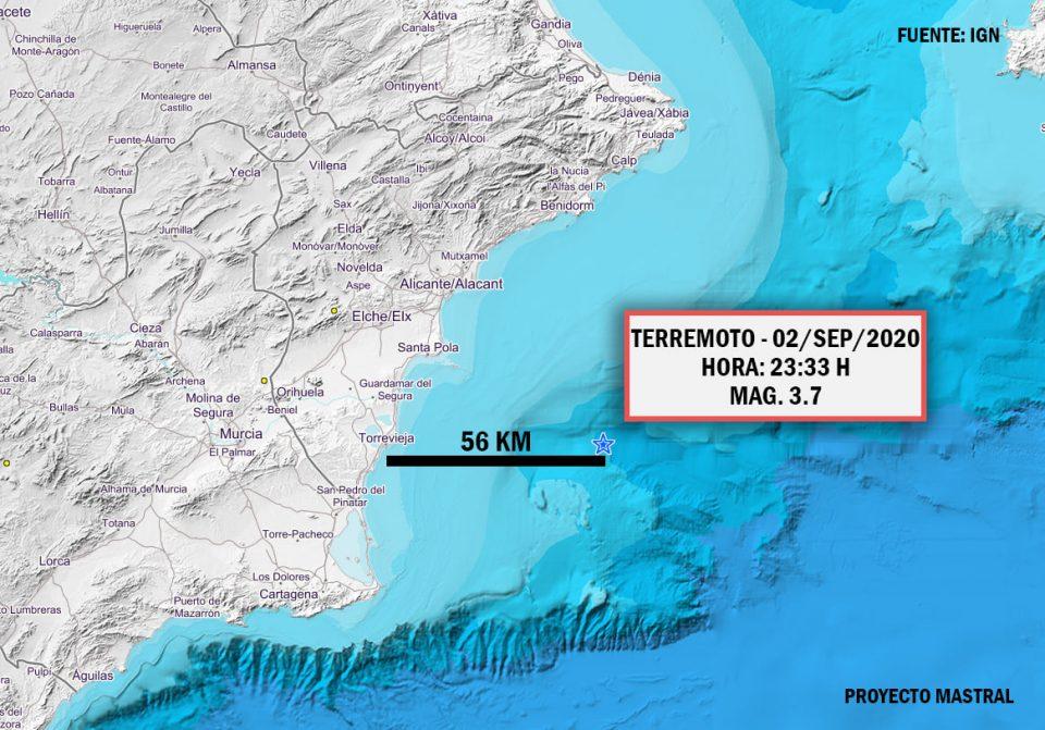 Un terremoto a 56 km de la costa de Torrevieja hace temblar la comarca 6