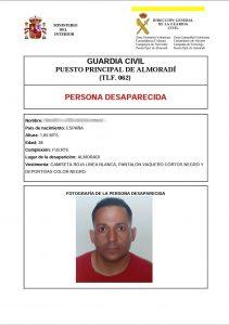 Desaparecido un chico de 38 años en Almoradí 7