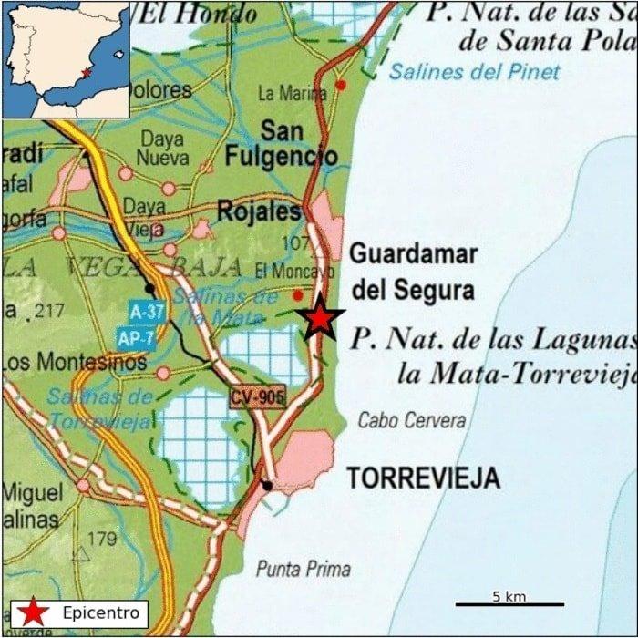 Leve temblor de tierra entre Guardamar y La Mata 6