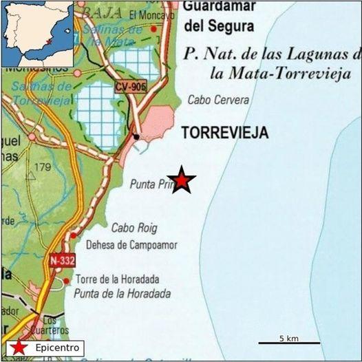 Un leve terremoto despierta este martes a Torrevieja 6