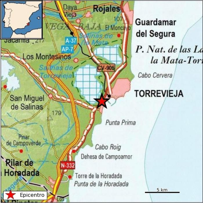 Torrevieja registra un terremoto esta madrugada 6