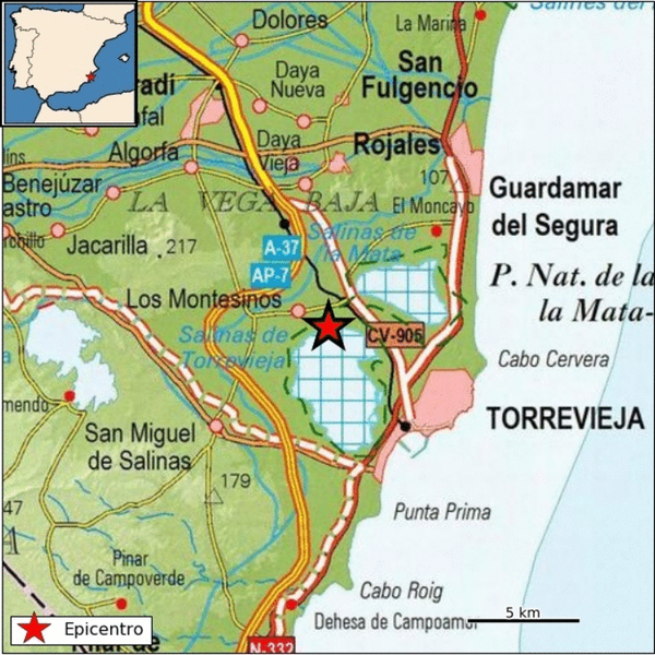 Terremoto con epicentro en la laguna salada de Torrevieja 6