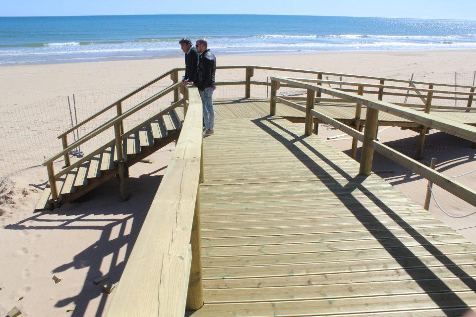Guardamar abre una nueva pasarela hacia las playas salvando dunas y pinar 6
