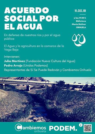 """La """"María Moliner"""" acoge la presentación del Acuerdo Social por el Agua 6"""