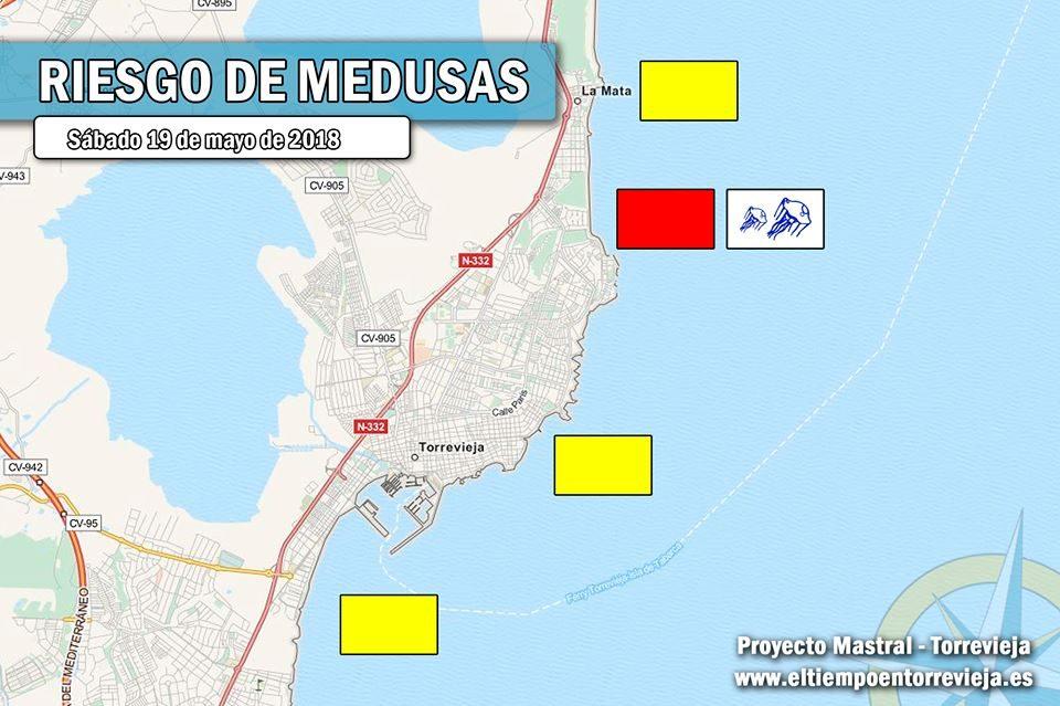 Cierran la playa de La Mata por la llegada de carabelas portuguesas 6