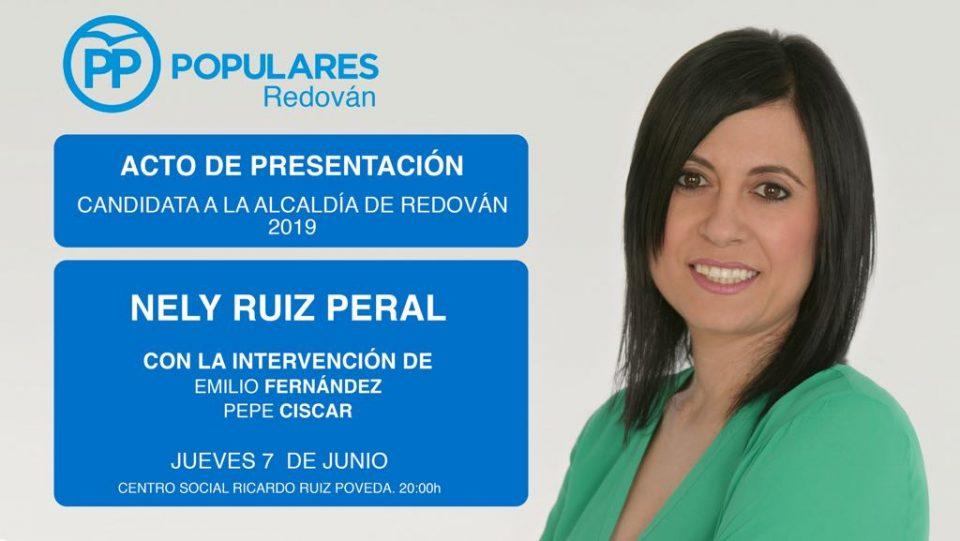 La popular Nely Ruiz presenta su candidatura a la alcaldía de Redován este jueves 6