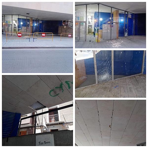 El vandalismo se ceba con el Edificio Poeta del Pueblo 6