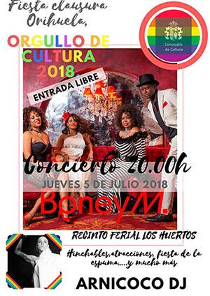 Boney M. clausura este jueves Orihuela, Orgullo de Cultura 2018 6