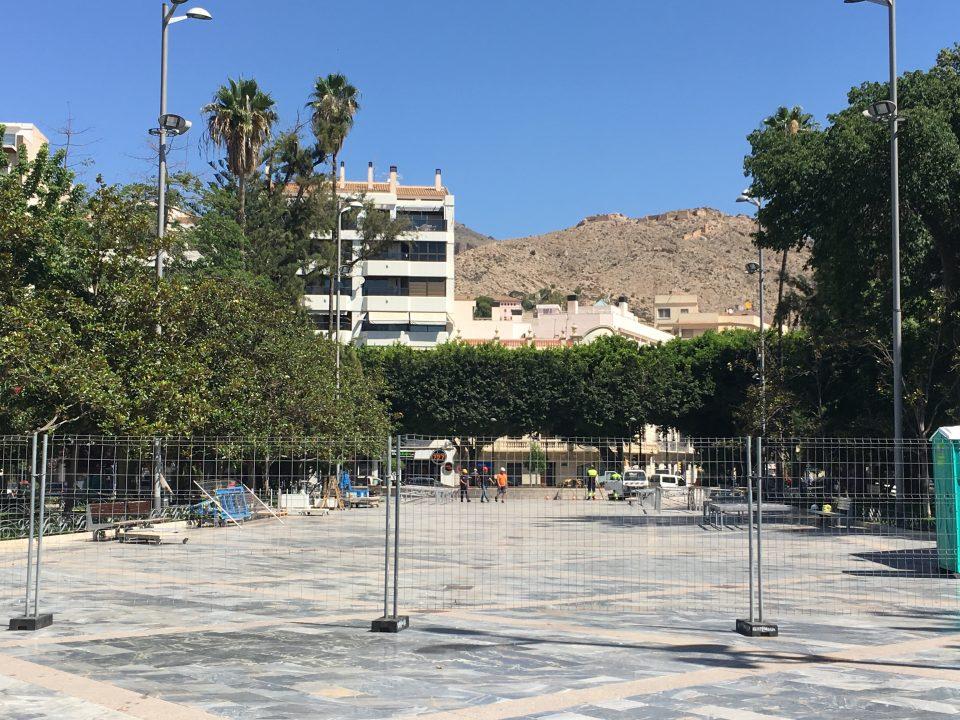Comienza el montaje del nuevo castillo de los Moros y Cristianos 6