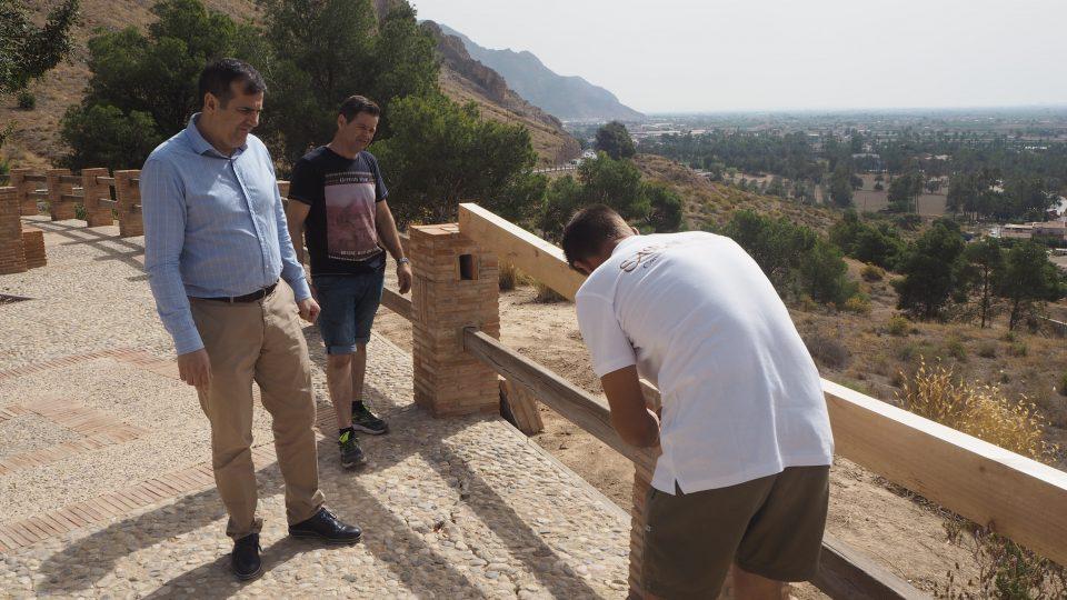 Arrancan los trabajos de reparación en los alrededores del Monte de San Miguel 6