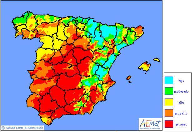 La Generalitat advierte del riesgo de Incendios Forestales en la Comarca 6