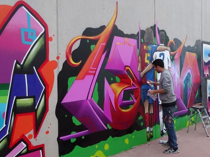 Grafitis para fomentar la limpieza urbana en Rafal 6