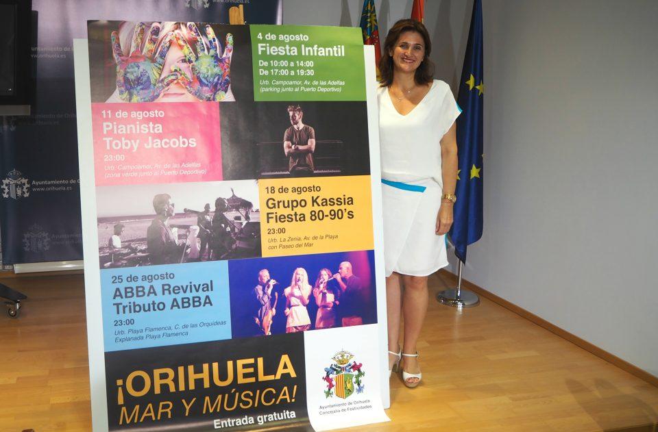 """""""Orihuela, mar y música"""" finaliza en Playa Flamenca con un tributo a ABBA 6"""
