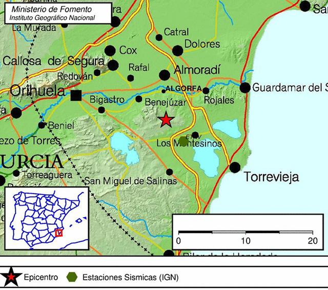 Algorfa tiembla con un terremoto de magnitud 2,2 6