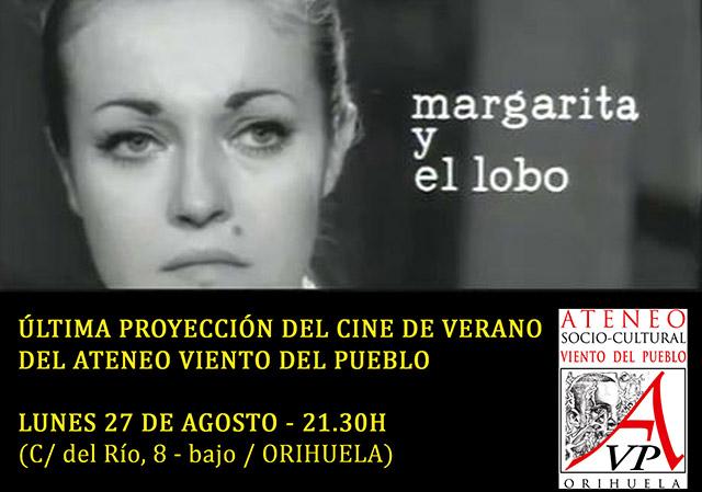 """""""Margarita y el lobo"""" cerrará el cine de verano de Vientos del Pueblo 6"""