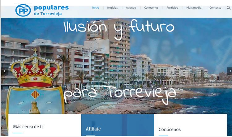 El PP de Torrevieja, más cerca de los ciudadanos con su nueva web 6