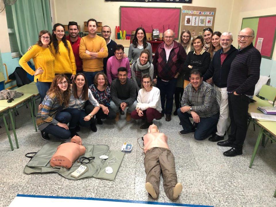 Inician la formación en reanimación cardiopulmonar al profesorado de la Comarca 6