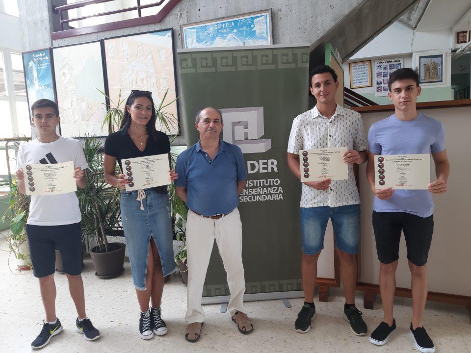 4 alumnos del IES Thader, campeones de Europa en el International Mathematical Modeling Challenge 6