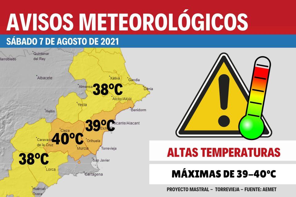 Aviso nivel naranja por calor en la Vega Baja 6