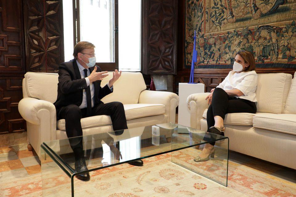 Ximo Puig insiste en buscar soluciones para el trasvase tras reunirse con la ministra 6