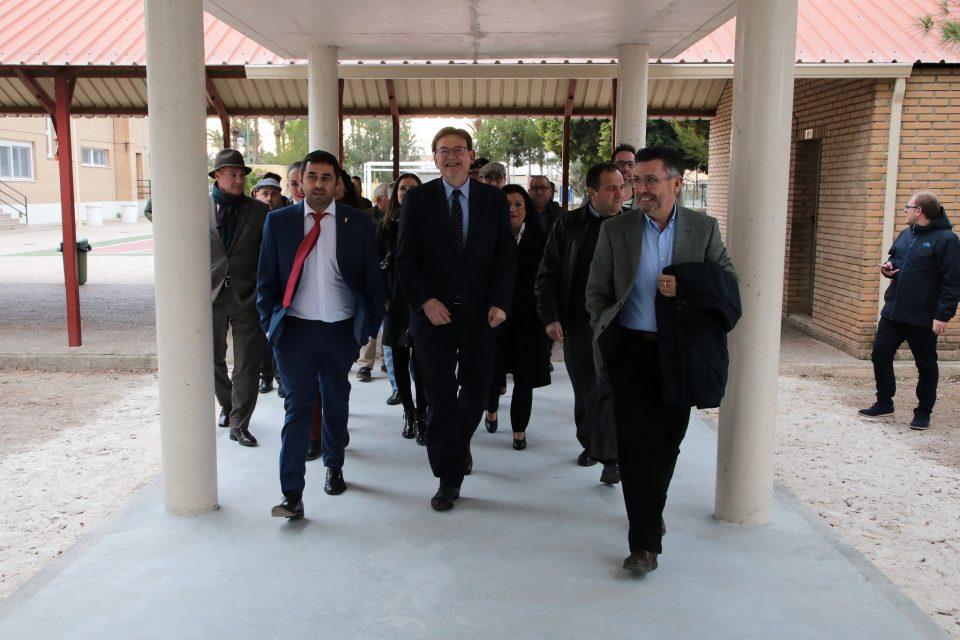 Ximo Puig visita el colegio Jesús Sánchez de San Isidro 6