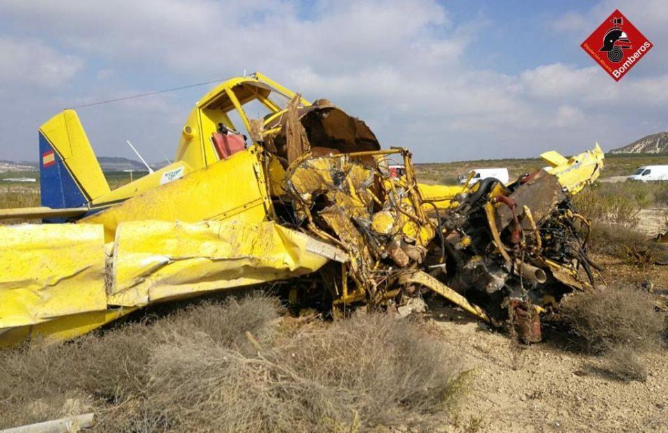 Un joven sobrevive en Orihuela a un accidente de avioneta 6