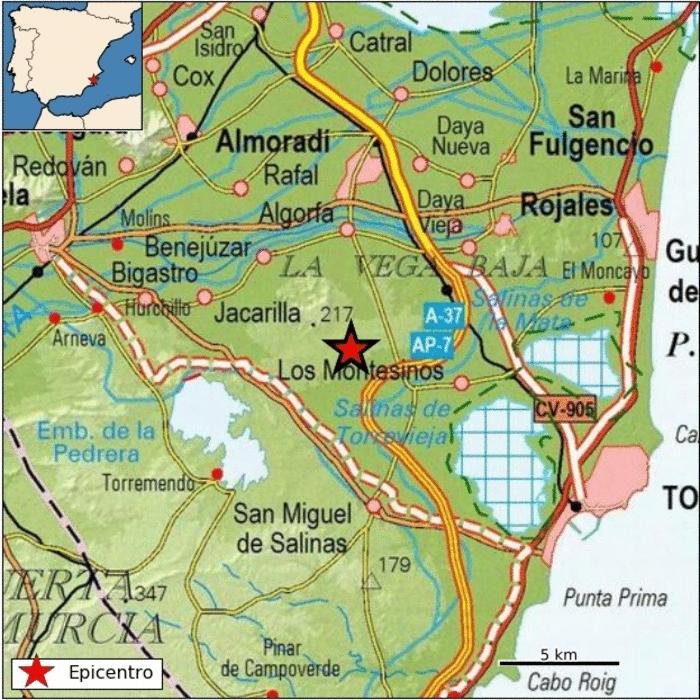 """Un terremoto en Los Montesinos se """"escucha"""" en la comarca 6"""