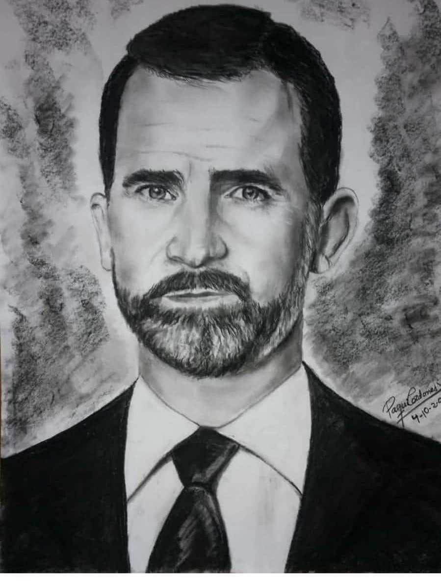 La Casa Real envía un agradecimiento a la artista oriolana que dibujó al Rey 6