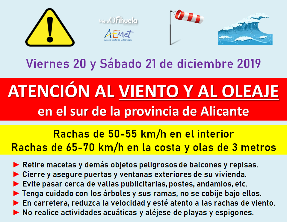 Los efectos de la Borrasca Elsa llegarán a la Vega Baja el viernes 6
