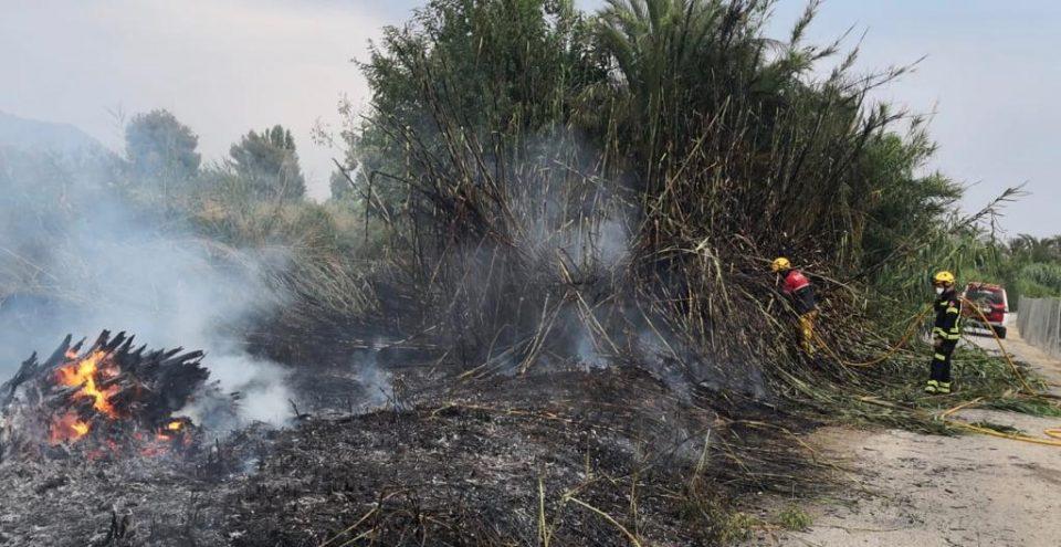 Tres incendios diferentes afectan a Cox, Bigastro y Molins 6