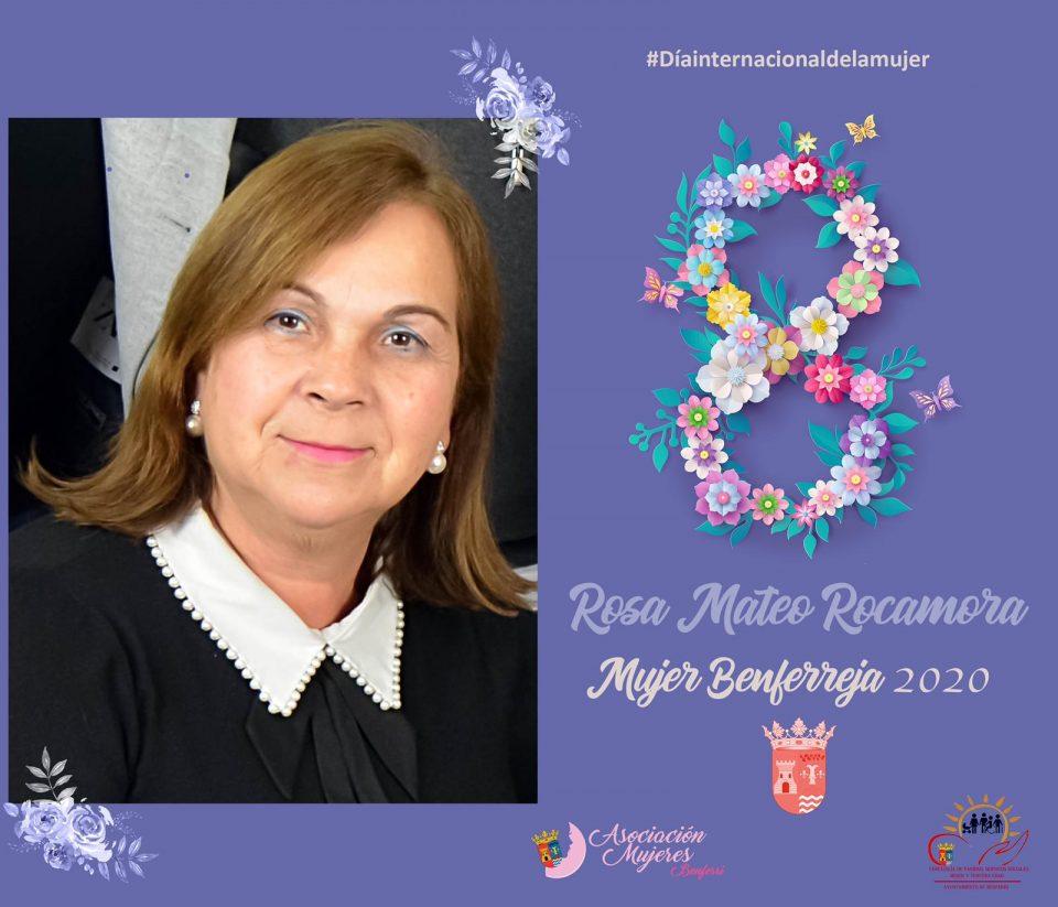 Rosa Mateo Rocamora, Mujer Benferreja 2020 6