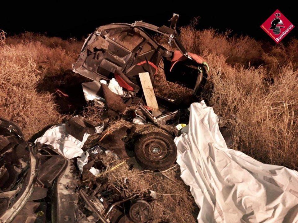 Dos fallecidos en un accidente ocurrido en la N-340 a la altura de Cox 6