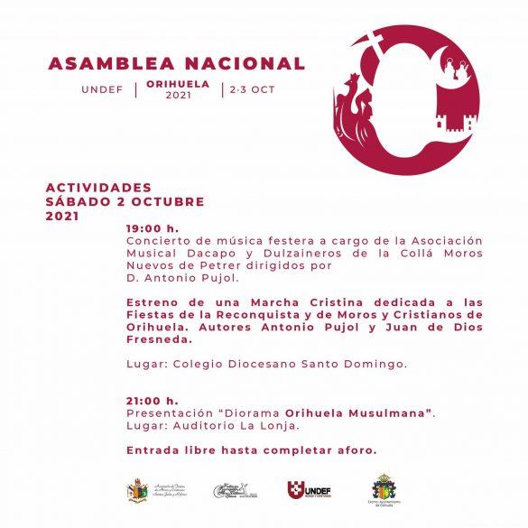 Orihuela acogerá la Asamblea Nacional de la Unión Nacional de Entidades Festeras de Moros y Cristianos 7
