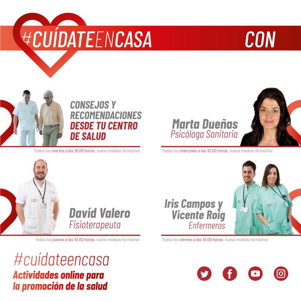 El Hospital de Torrevieja pone en marcha el programa #CuídateEnCasa 6