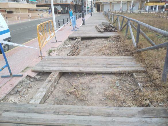 La Brigada Verde repara la senda peatonal de La Mata 7