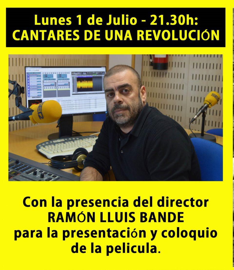 Ramón Lluis Bande estará esta noche en el cine de verano del Ateneo 6