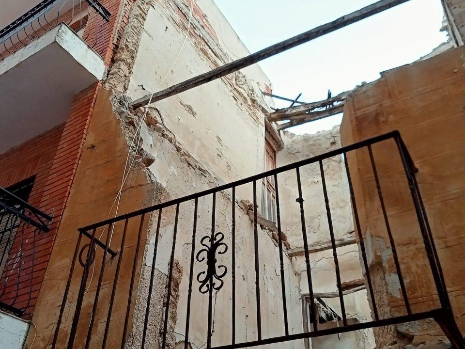 PSOE Orihuela critica que no se reconstruya el muro de contención derruido por la DANA en Barrio Nuevo 6