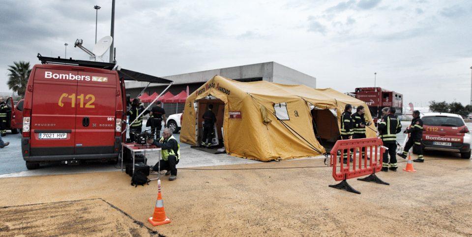 Los bomberos preparan un gran simulacro de intervención ante un terremoto 6
