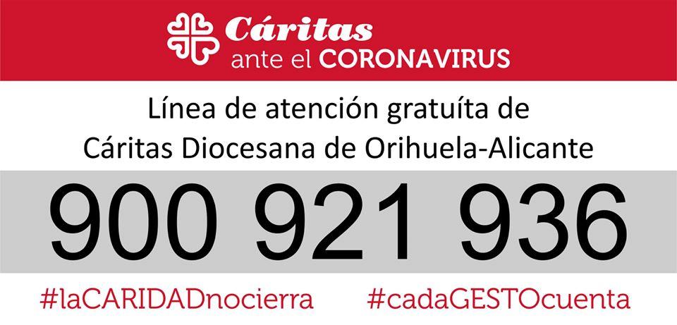 Cáritas lanza un teléfono gratuito para atender a los más vulnerables durante la crisis sanitaria 6