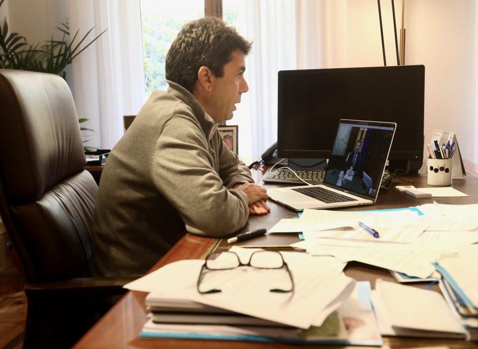 Ximo Puig mantiene una reunión online con los presidentes de las diputaciones provinciales 6