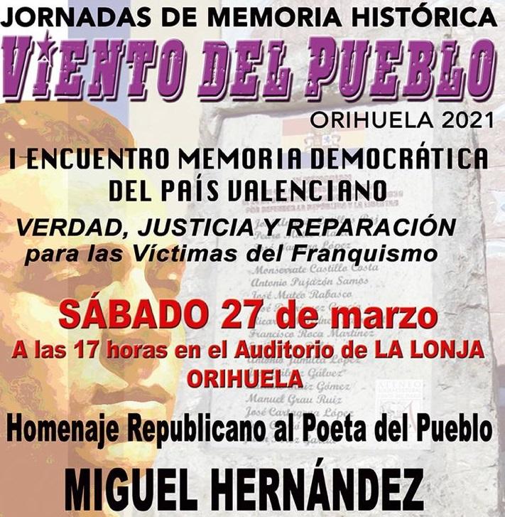 """La Lonja de Orihuela acoge un """"Homenaje Republicano a Miguel Hernández"""" 6"""