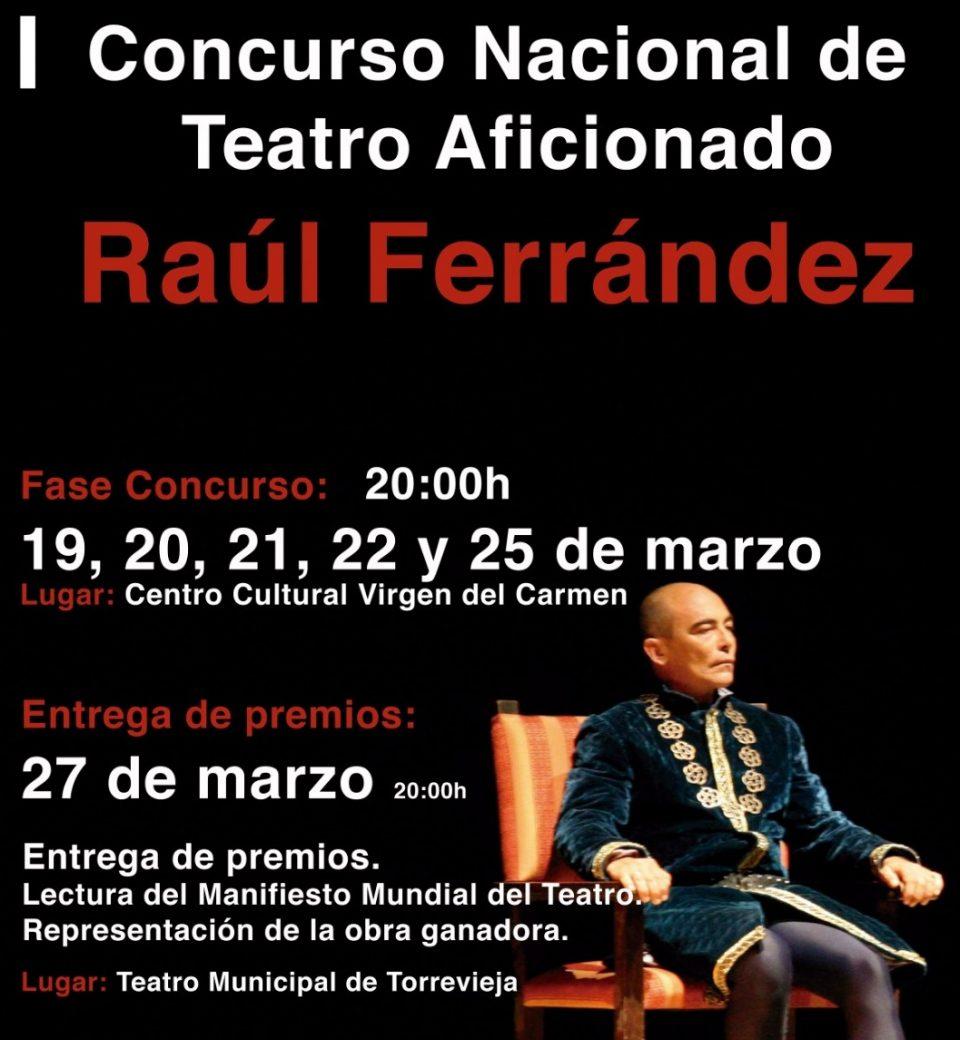 """Torrevieja convoca el I Concurso Nacional de Teatro Aficionado """"Raúl Ferrández"""" 6"""