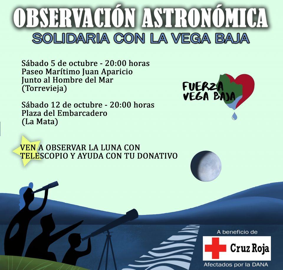 La observación lunar este sábado en Torrevieja recogerá donativos para los afectados por la gota fría 6