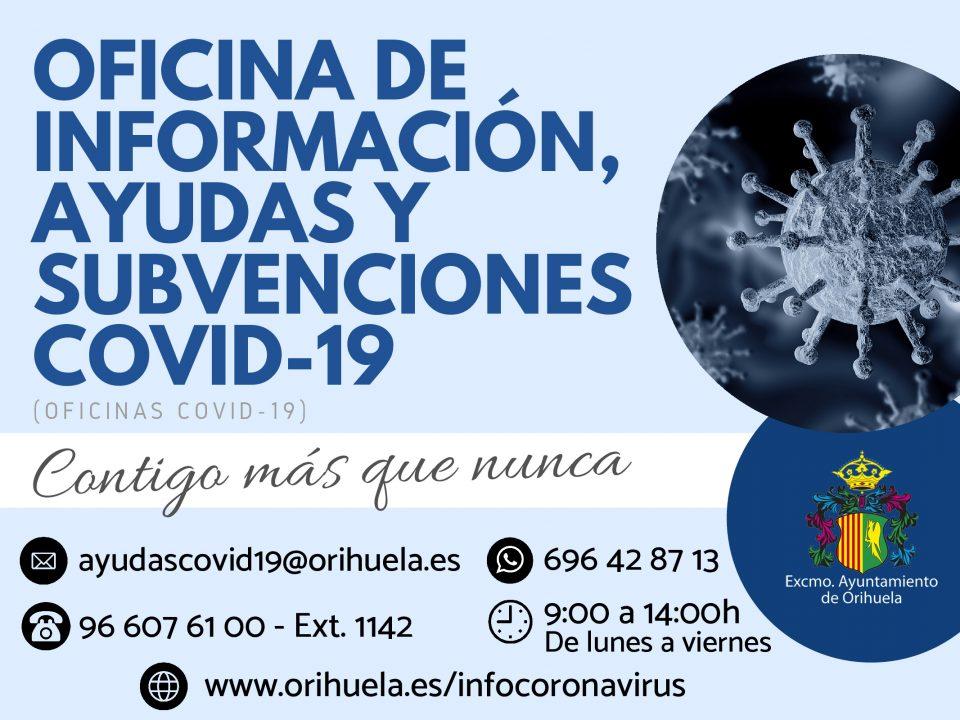 Orihuela crea la 'Oficina de Información, Ayudas y Subvenciones COVID-19' 6