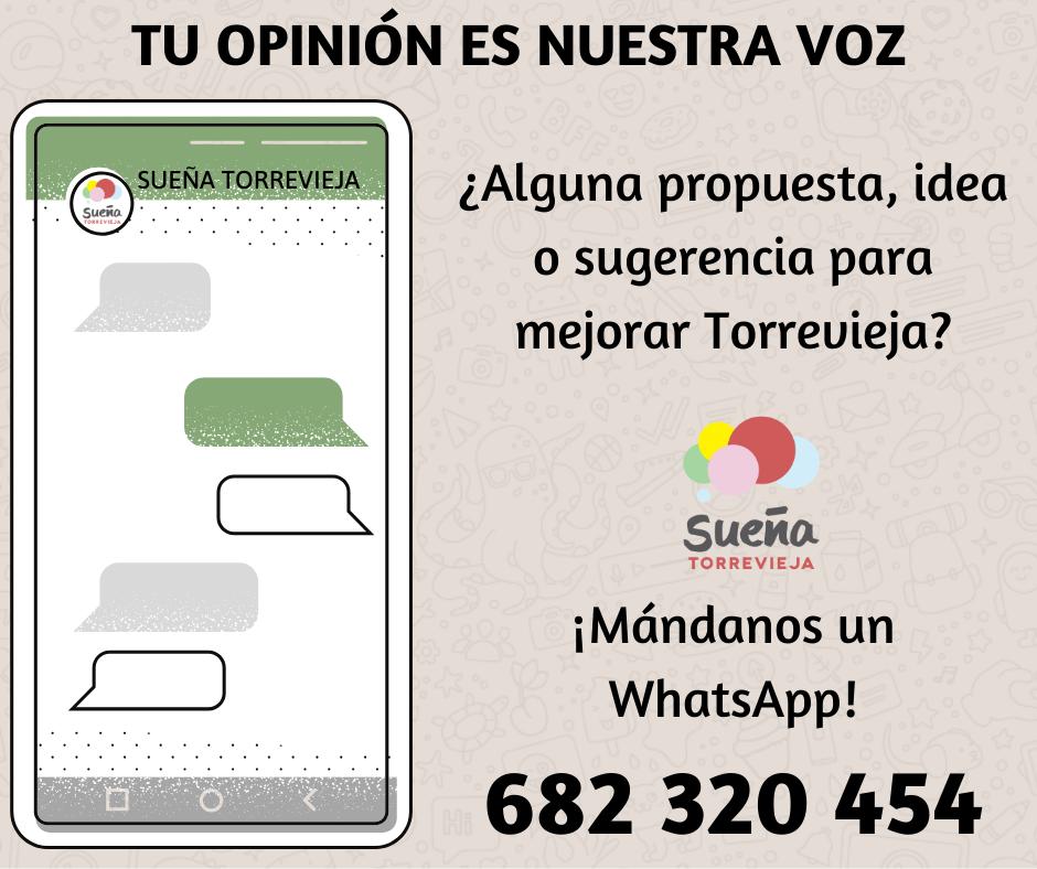 Sueña Torrevieja habilita un teléfono de Whatsapp para escuchar propuestas de vecinos 6