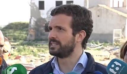 """Pablo Casado: """"Denunciamos que las ayudas no han llegado y todavía hay familias sin casa"""" 6"""