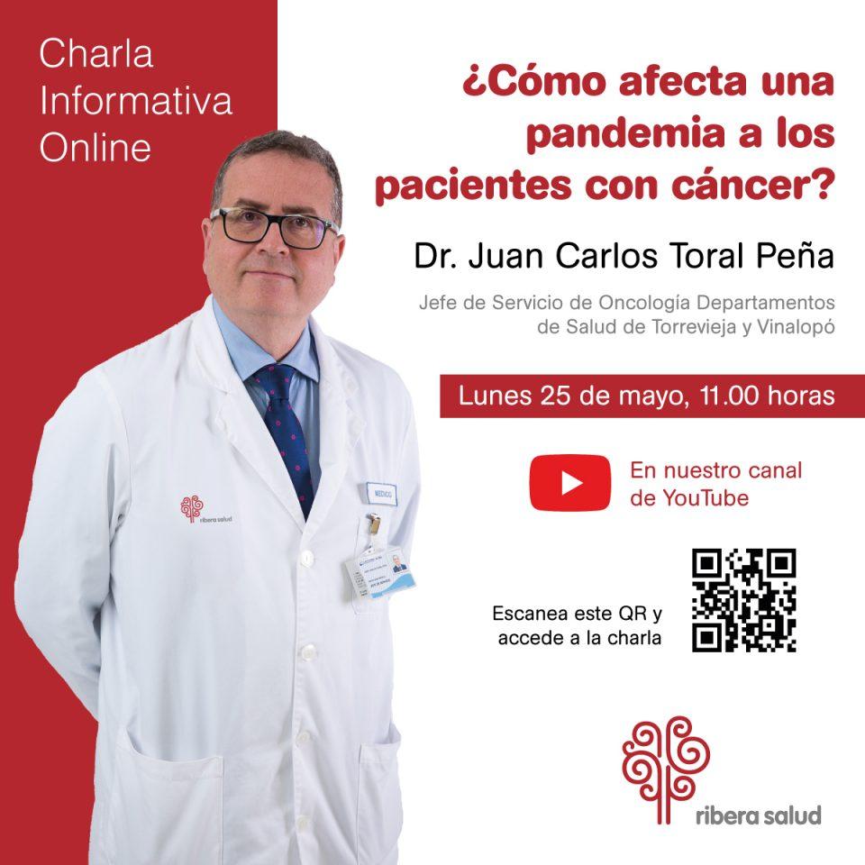 El Hospital de Torrevieja resolverá dudas a los pacientes oncológicos en un directo 6