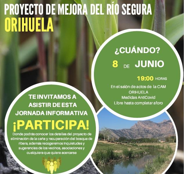 La CHS celebrará la presentación pública del proyecto de mejora del río Segura en Orihuela 6