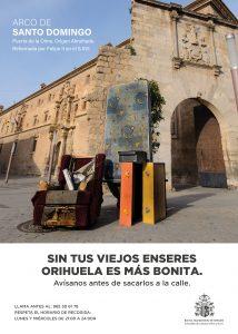 Orihuela lanza una campaña de recogida de enseres domésticos 7